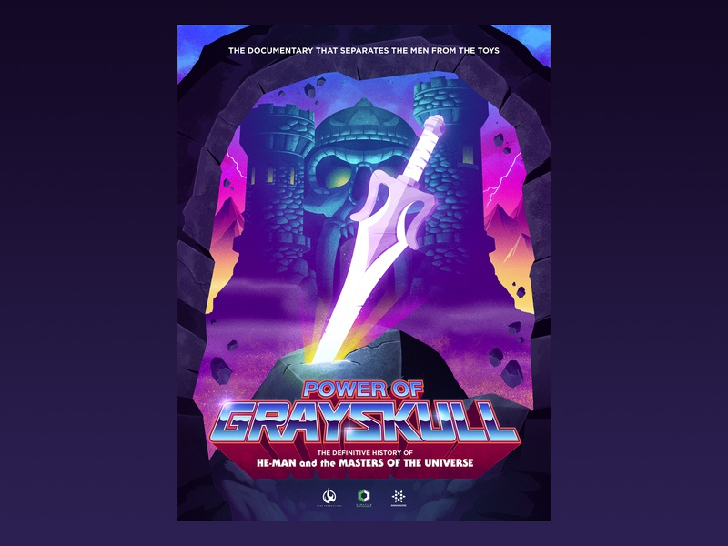 Power of Grayskull poster signalnoise masters of the universe he-man photoshop illustrator outrun vaporwave retrowave synthwave 1980s retro illustration design art