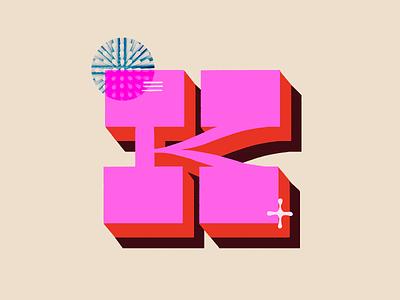 K illustration design hand lettering texture hand letter hand lettered 36 days of type 36daysoftype typography graphic design