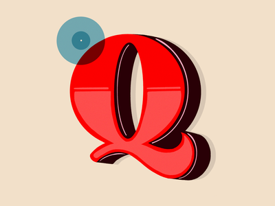 Q design hand lettering texture illustration graphic design hand letter hand lettered 36daysoftype 36 days of type typography