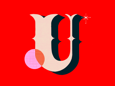 U design texture lettering illustration graphic design hand letter hand lettered 36daysoftype 36 days of type typography
