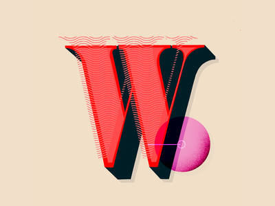 W illustration 36 days of type 36daysoftype hand letter lettering hand lettering texture graphic design typography hand lettered