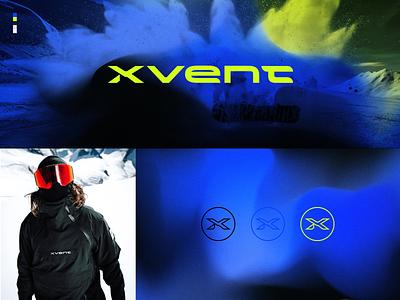 XVENT extreme sports snowboarding typography texture logotype branding logo design graphic design