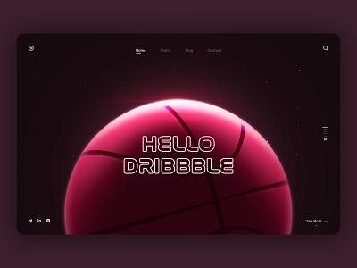 Hello, Dribbble! hello dribbble wed design web firstshot logo dribbble 3d ux ui