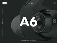 Website design for dashcam - WECH A6