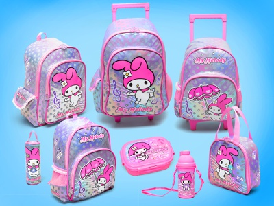 My Melody Backpack Set products product product design girly shiny japan kawaii cute pink iridescent sanrio branding kids design fashion character children back to school backpack