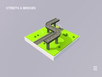Streets Bridges 3D