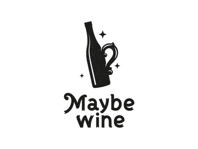 Maybe wine? wonderland alcohol logo party tea magic cup shop maybe wine