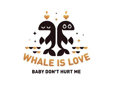 Whale is love sparks fish boyfriend girlfriend logo poster romantic relationship valentines sea love whale