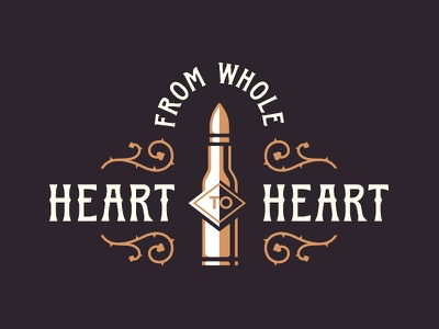 From whole heart war peace whole enemy logo poster weapon heart bullet love