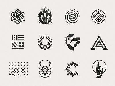 Logo collection №—1 graphic logoset identity brand typography type collection mark logo