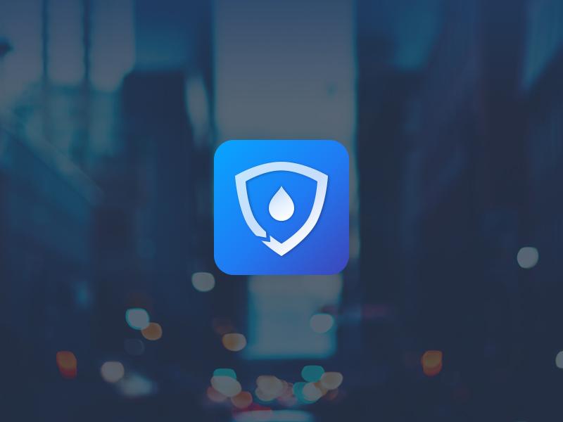 YunDun APP Icon blue app icon