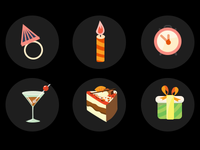 Icons for Birthday