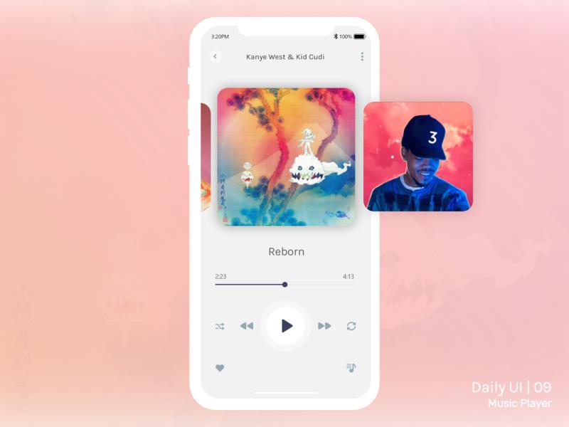 Daily UI Challenge #009 - Music Player 009 dailyui ux design mobile music app music player music