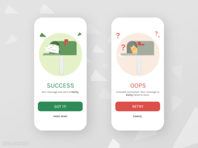 Daily UI  #011 Success/Fail Message