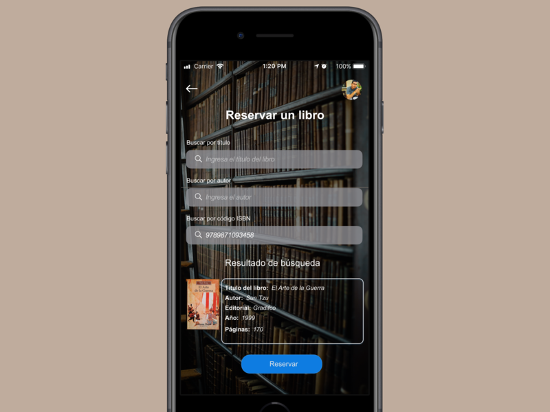 Community library app ux ui reservation library books