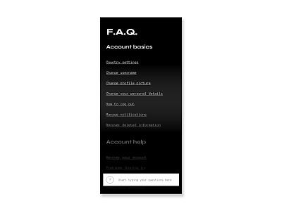 DAILY UI: FAQ faq daily ui challenge ux ui daily ui daily 100 challenge