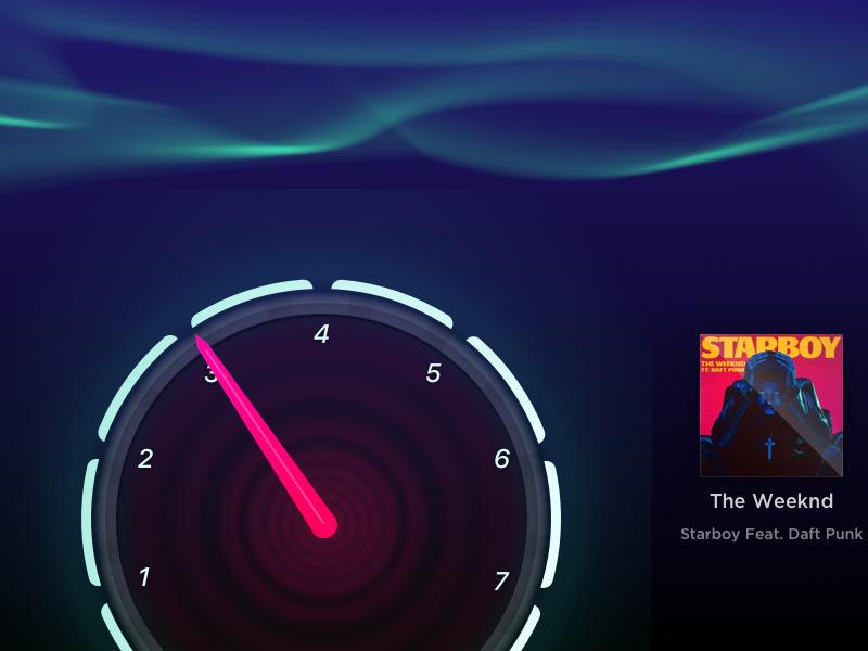 Car Dashboard UI (WIP) dashboard car ui weeknd starboy speedometer