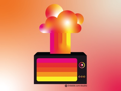 Old School - New School illustration abstract gradients background tv