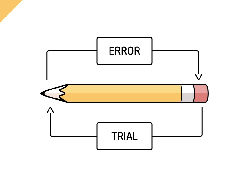 Trial & Error - The basics type simple pencil objects design