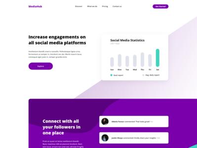 Social Media Management Brand Landing Page Design