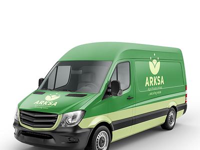 Arksa Farm Product Delivery Van Branding logos logofactory logodesign logo branding identity branding design branding and identity branding agency branding brand identity brand design brand