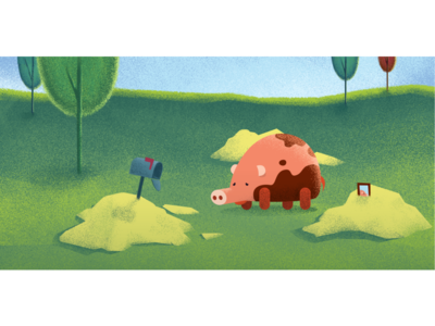 sad little pig