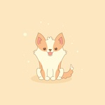 a Cute Welsh Corgi in Adobe Illustrator.
