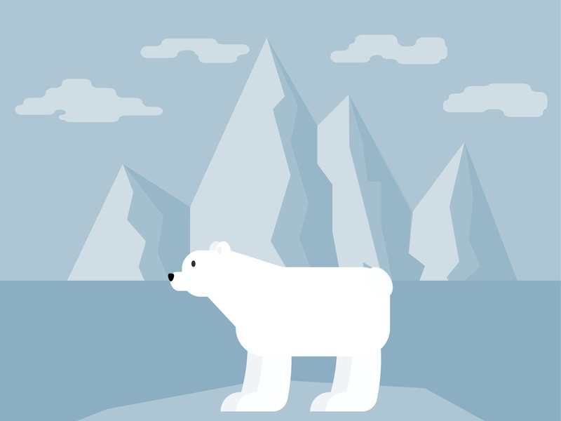 Day2- a bear in Adobe Illustrator. illustration 100 days challenge illustrator