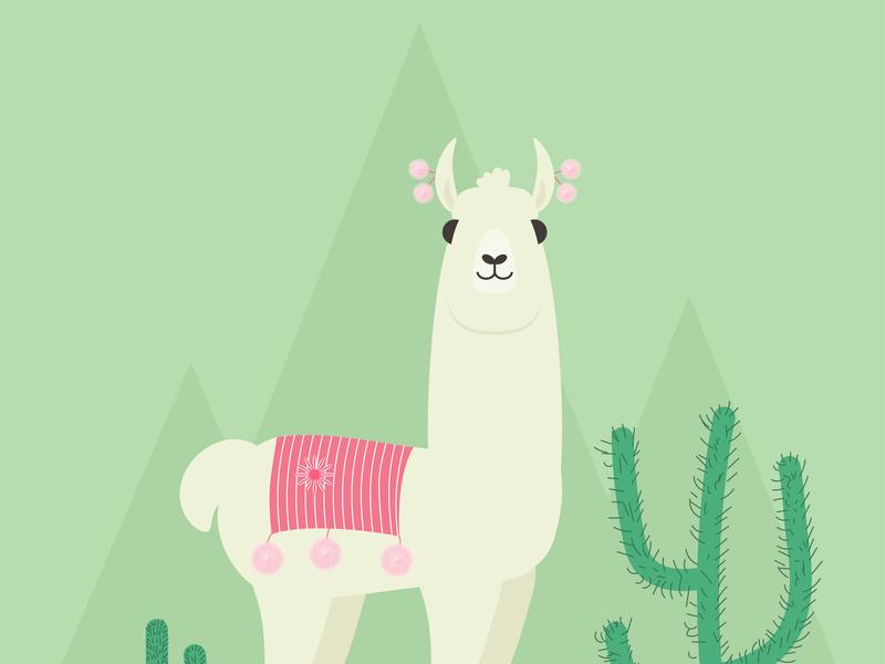 Day3- Alpaca in Adobe Illustrator illustration 100 days challenge illustrator