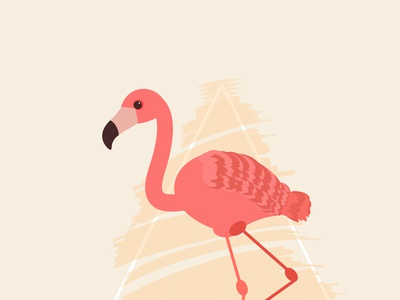 Day5- a flamingo in  illustration.