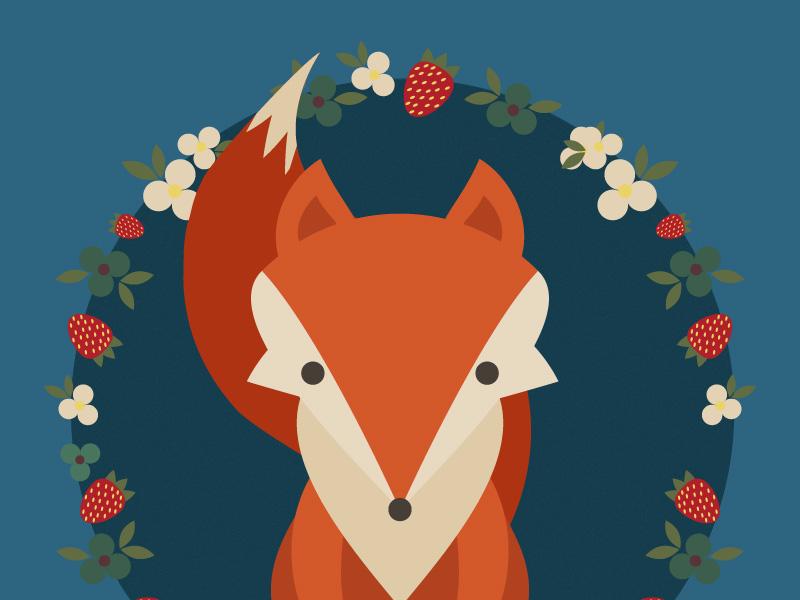 Day6- a fox illustration 100 days challenge illustrator