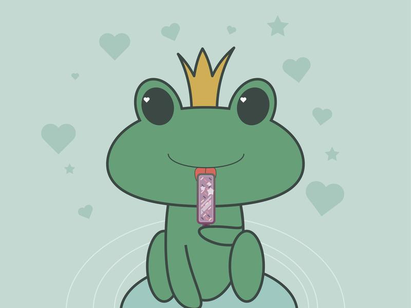 day8- a frog illustration 100 days challenge illustrator