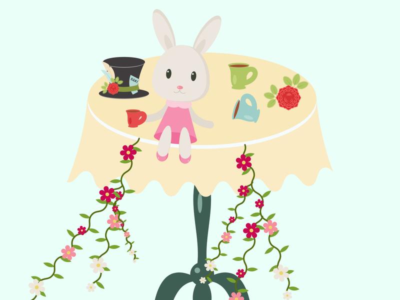 Day9 - a rabbit illustration 100 days challenge illustrator