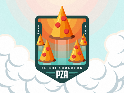 Pizza Formation Sticker