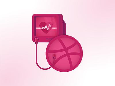 Hook Me up to that Like Machine likes stickermule sticker machine ekg monitor heart dribbble