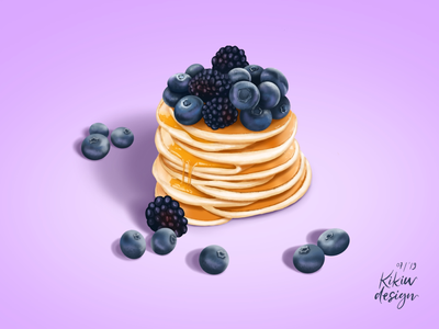 Friday Food! Blueberries pancakes 😍😍😍🥰🥰🥰