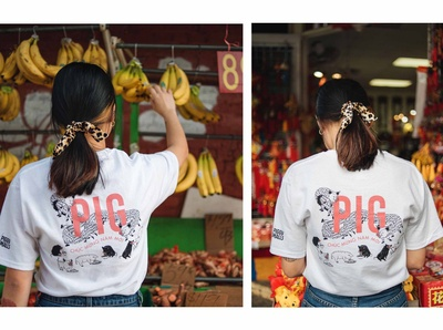 The Pig and the Lady T shirt design
