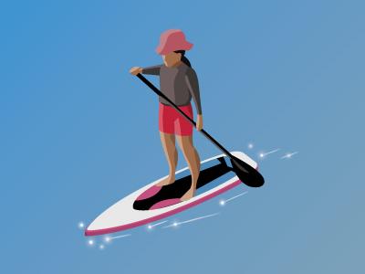 Sup @無痕海洋 taiwan ocean 2.5d illustraion sup sport