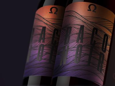 Wine Bottle Label Multi