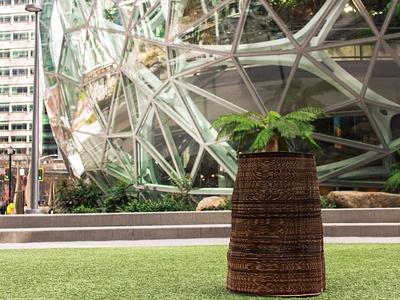 cardboard stump exhibition space design