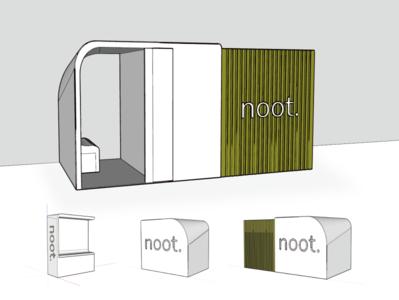 NOOT product design 3d modeling design sketchup speculative design