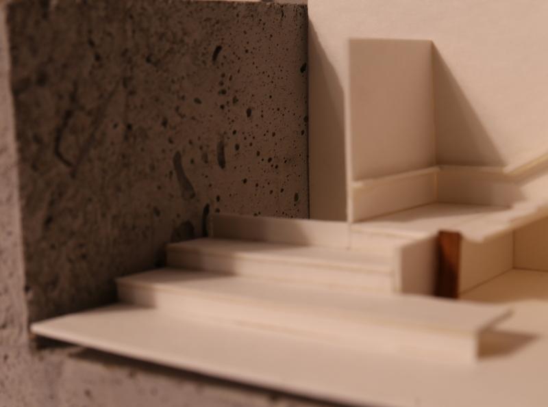 Light study model mock-up light space architecture design