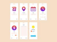 CommuniFree - create an event interface app design app communifree uidesign