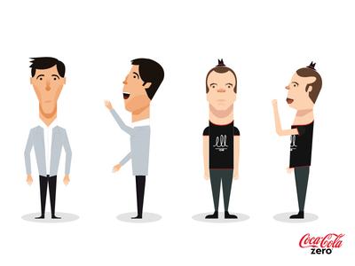 Coca Zero Characters