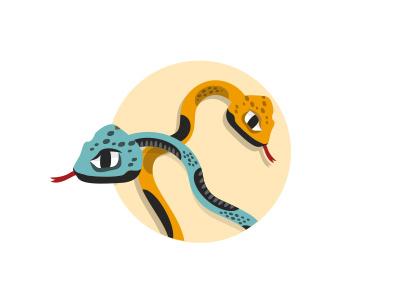 Snakes & Ladders illustration snakes