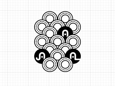 Portfolio Background Pattern illustration circle pattern mono identity