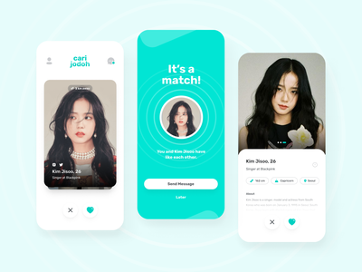 Cari Jodoh - Dating App kpop dating jisoo blackpink korea ux ui app ui design dating app
