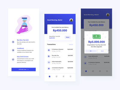 Pay Later App uiux finance pay later design app ui ux