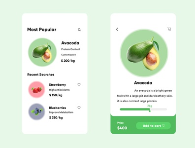 Fruits UI App