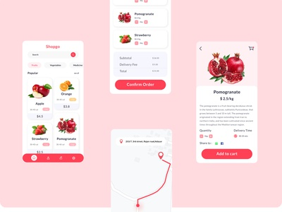 Fruit UI app design typography ui